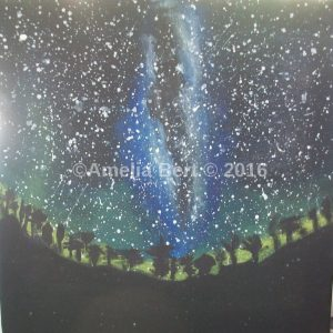 Lighted night Canvas