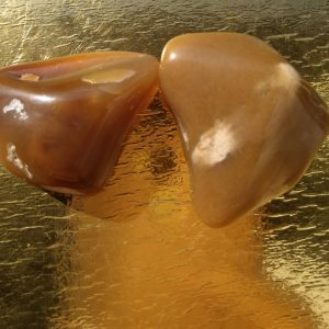 set of 2 honey opal: for subconscious positive energy