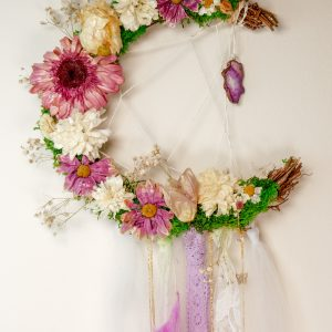 Violet Fire moon wreath