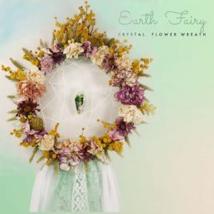 Earth Fairy Crystal flower wreath