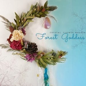 Forest Goddess moon wreath