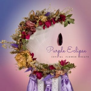 Purple Eclipse Moon Flower wreath