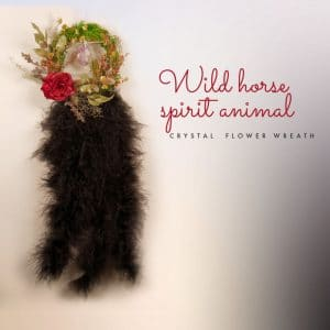 Wild horse spirit animal – amethyst flower wreath