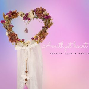 Amethyst Heart – heart wreath
