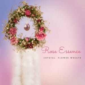Rose essence amethyst wreath
