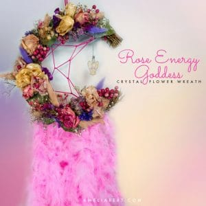 Rose Energy Goddess wreath
