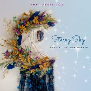 Starry sky Moon Wreath